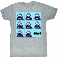 Jaws Shirt Undefeatable Adult Grey Tee T-Shirt