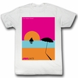 Jaws Shirt Visit Amity Island Adult White Tee T-Shirt