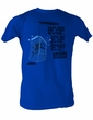 Jaws T-shirt Cage In The Water Adult Royal Tee Shirt