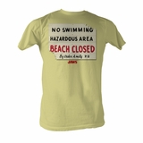 Jaws Coming From The Deep 40th Anniversary Adult T Shirt Great Classic Movie