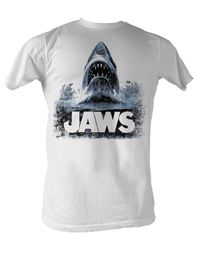 Jaws T-shirt Jaws Water Classic Adult White Tee Shirt