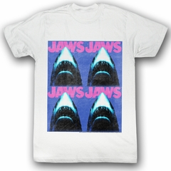 Jaws T-shirt Movie Shark Jaws4 Adult White Tee Shirt