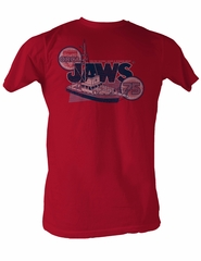 Jaws T-shirt Orca 75 Bigger Boat Classic Adult Red Tee Shirt