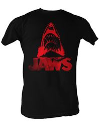 Jaws T-shirt Red Jaws Classic Adult Black Tee Shirt