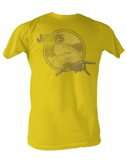 Jaws T-shirt Yellow Jaws Classic Adult Yellow Tee Shirt