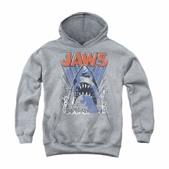 Jaws Youth Hoodie Comic Splash Athletic Heather Kids Hoody