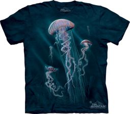 Jellyfish Shirt Tie Dye Aquatic Fish Adult T-shirt Tee