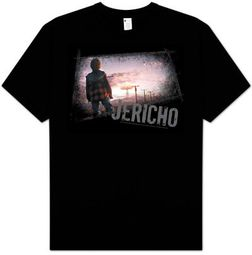 Jericho TV Show Nuclear Disaster MUSHROOM CLOUD Adult Black T-shirt