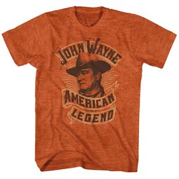 John Wayne Shirt American Legend Heather Orange T-Shirt