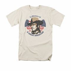 John Wayne Shirt In Memory Of Cream T-Shirt