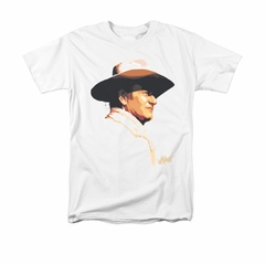 John Wayne Shirt Painted Profile White T-Shirt