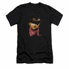 John Wayne Shirt Slim Fit Painted Portrait Black T-Shirt