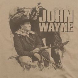 John Wayne With His Horse Shirts
