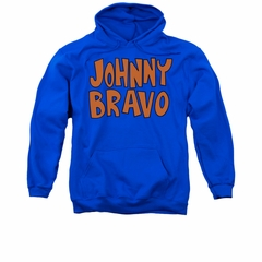 Johnny Bravo Hoodie Sweatshirt Jb Logo Royal Blue Adult Hoody Sweat Shirt