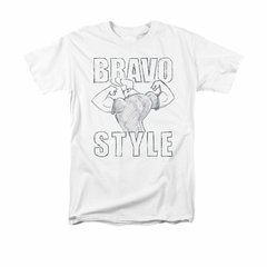 Johnny Bravo Shirt Bravo Style Adult White Tee T-Shirt