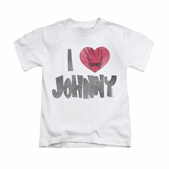 Johnny Bravo Shirt Kids I Heart Johnny White Youth Tee T-Shirt