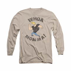 Johnny Bravo Shirt Long Sleeve Whoa Momma Sand Tee T-Shirt