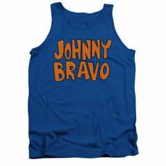 Johnny Bravo Tank Top Jb Logo Royal Blue Tanktop