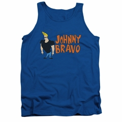 Johnny Bravo Tank Top Johnny Logo Royal Tanktop