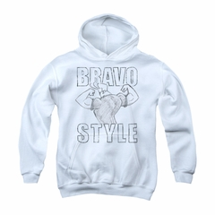 Johnny Bravo Youth Hoodie Imaginary White Kids Hoody