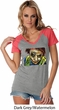 Joker Face Ladies Contrast V-Neck Shirt