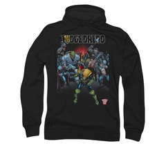 Judge Dredd Hoodie Behind Him Black Sweatshirt Hoody