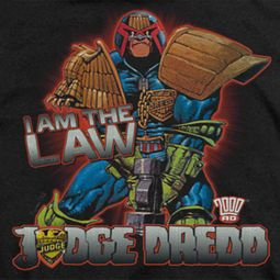 Judge Dredd I Am The Law Shirts