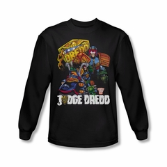 Judge Dredd Shirt Bike Long Sleeve Black Tee T-Shirt
