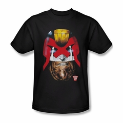 Judge Dredd Shirt Dredds Head Black T-Shirt