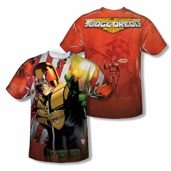 Judge Dredd Shirt Flag Sublimation Shirt Front/Back Print