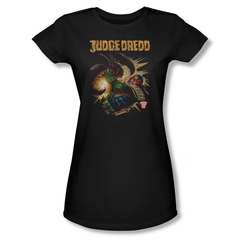 Judge Dredd Shirt Juniors Punch Blast Black T-Shirt