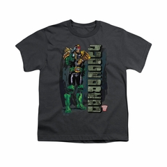 Judge Dredd Shirt Kids Standing Charcoal T-Shirt