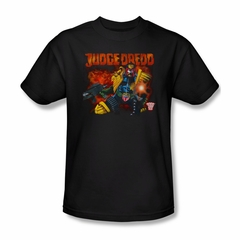 Judge Dredd Shirt Shooting Black T-Shirt