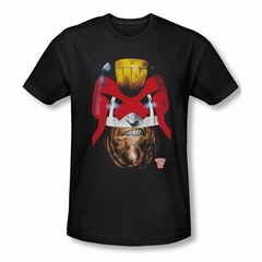 Judge Dredd Shirt Slim Fit Dredds Head Black T-Shirt
