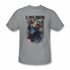 Judge Dredd Shirt Standing Over Silver T-Shirt
