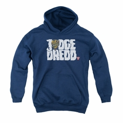 Judge Dredd Youth Hoodie Logo Navy Kids Hoody