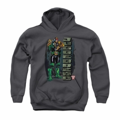 Judge Dredd Youth Hoodie Standing Charcoal Kids Hoody