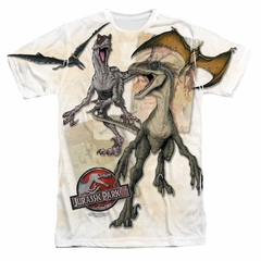 Jurassic Park Dino Drawings Sublimation Shirt