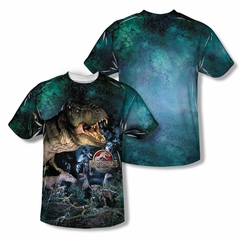 Jurassic Park Dinos Gather Sublimation Shirt Front/Back Print