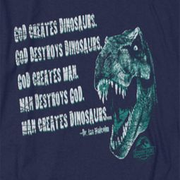 Jurassic Park God Creates Dinosaurs Shirts