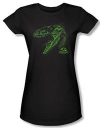 Jurassic Park Juniors T-shirt Movie Spino Mount Black Tee Shirt