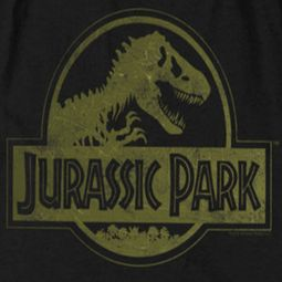 Jurassic Park Movie Distressed Logo Shirts