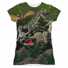 Jurassic Park Pack Of Dinos Sublimation Juniors Shirt