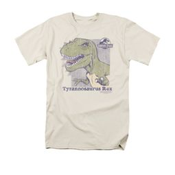 Jurassic Park Shirt Retro Rex Adult Cream Tee T-Shirt