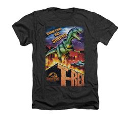 Jurassic Park Shirt Rex In The City Adult Heather Charcoal Tee T-Shirt