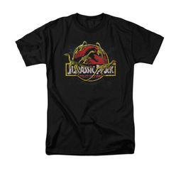 Jurassic Park Shirt Something Has Survived Adult Black Tee T-Shirt