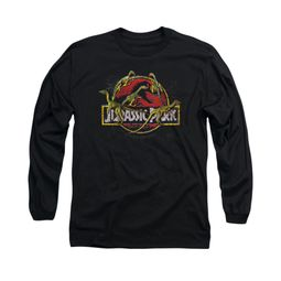Jurassic Park Shirt Something Has Survived Long Sleeve Black Tee T-Shirt