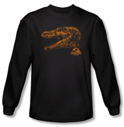 Jurassic Park T-shirt Spino Mount Adult Black Long Sleeve Tee Shirt