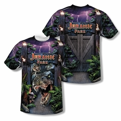 Jurassic Park Welcome To The Park Sublimation Shirt Front/Back Print