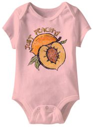 Just Peachy Funny Baby Romper Pink Infant Babies Creeper